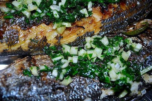 Traditionally grilled fish in Supetar, Brač, Croatia