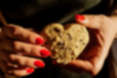 Chocolate Chip Cookie in the Shape of a Heart, Passion for Dessert, Beirut, Lebanon