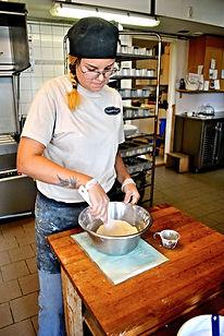 Josefine Making Her Prinsesstårta Recipe at Berglunds Bageri, Sweden