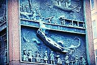 Arte di Pietra affondamento della nave a Bergen, in Norvegia