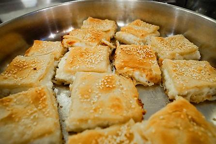 white cheese in filo dough, tawlet restaurant, beirut, Lebanon