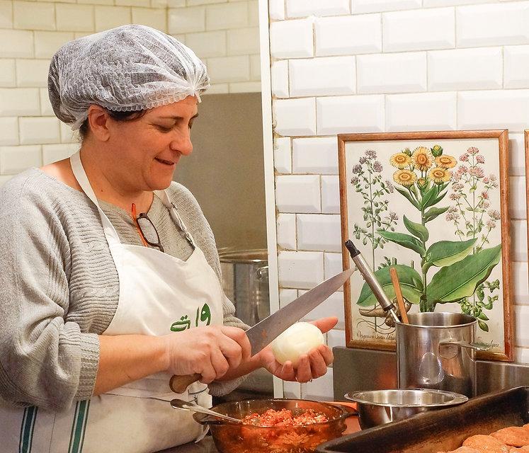 Ossan Tachdjian preparing food, Tawlet, Beirut, Lebanon