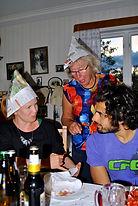 Marianne Berglund at the Kräftskiva aka Crayfish Party in Kungsgården, Sweden