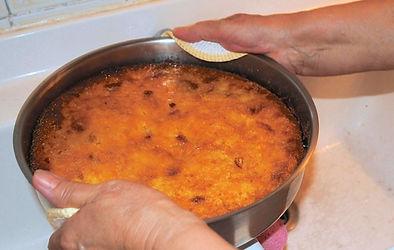 Flipping the torta, Anna's Italian Torta di Riso Recipe