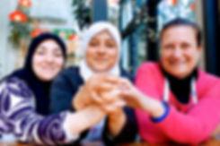 Lebanese and Syrians hannd in hand, Tawlet, Beirut, Lebanon