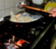 Stirring, Ante's White Scampi Risotto Recipe, Konoba Lukin, Brač, Croatia
