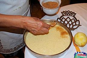 Adding brown sugar, Anna's Italian Torta di Riso Recipe