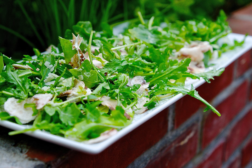 White Mushroom Arugula Salad Recipe from Basilicata, Italy