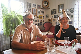 Helge at the Kräftskiva aka Crayfish Party in Kungsgården, Sweden