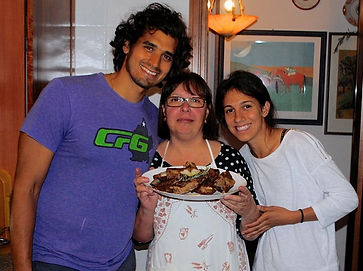 Leila, Anthony and Nicoletta, Italy