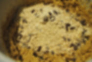 Adding Dry and Wet Ingredients; Gaja's Crunchy Chocolate Chip Cookies Recipe, Pazin, Croatia