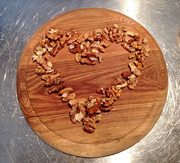 Walnut Heart for Matea's Walnut Meringue Cake Recipe in Sutivan, Brač, Croatia