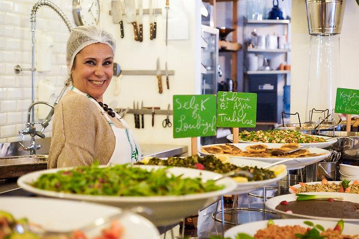 Josephine Galep and Lebanese food, Tawlet, Beirut, Lebanon