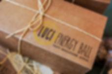 Box of Luci Energy Balls, Souk El Tayeb, Beirut, Lebanon