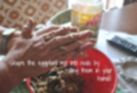 Shaping the Eggplant Fritters into Ovals - Marietta's Calabrese Braciole di Melanzane Recipe
