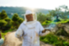Ali Elamine explaining beekeeping to the recipe hunters in lebanon