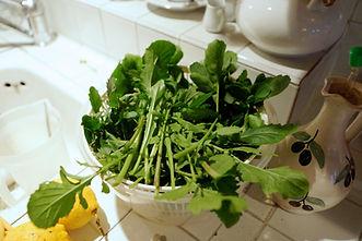 Fresh arugula or roquette, White Mushroom Arugula Salad Recipe