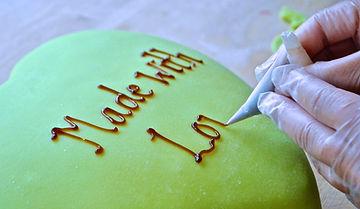 Cake Inscription for Prinsesstårta Recipe at Berglunds Bageri, Sweden