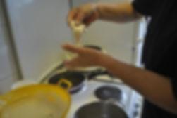 Shaping the dough, Croatian FriedShaping the dough, Croatian Fried Dough or Uštipci Recipe, Split, Croatia Dough or Languši Recipe, Split, Croatia