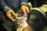 Lärkin Making a Knife, Järbo, Sweden