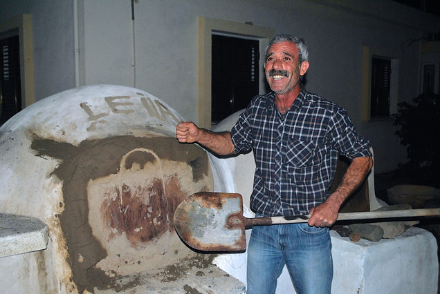 Cyprus Local, Kamel working with his Clay Oven