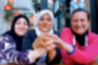 Alaa, Imane, and Magida at Tawlet in Beirut, Lebanon