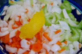 Lemon peel, carrot, onion and celery for soffrito, Italian Ossobuco Recipe