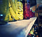 Jars of Pickles in Cooking House, Imotski, Croatia