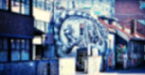 Graffiti Art on Street in Oslo, Norway