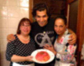 Anthony, Nicoletta, and Brunella with the Zuppa Inglese, Emilia Romagna, Italy