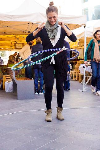 Soumaya Hoola Hooping at the Souk El Tayeb in Beirut, Lebanon