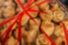 Marzipan roses at Souk el Tayeb