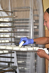 3. Flipping the Goat Cheese