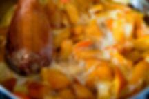 boiling orange and pumpkin, carmelized pumpkin recipe, Lebanon