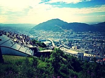 Bergen Monte Floyen funicolare Fløibanen