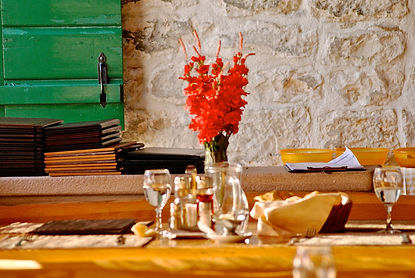 Table at Konoba Kopačina, Donji Humac, on the island of Brač, Croatia