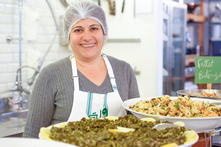 Nada Saber and lebanese food at Tawlet in Beirut, Lebanon