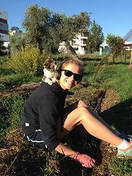 Mattie working on GROL GARDEN, Cyprus