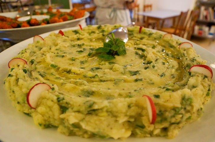 Traidtional food at Tawlet Restaurant in Beirut, Lebanon