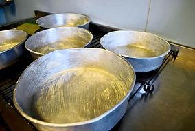 Buttered Pans for Ostkaka Recipe, Sweden