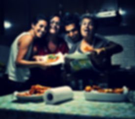 Leila, Angela, Anthony and Marietta with the zepolle pizza hearts