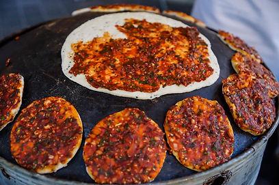 Syrian savory bread, Souk el Tayeb, Beirut, Lebanon