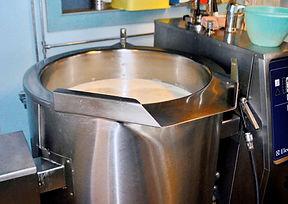 Milk Boiling for Ostkaka Recipe, Sweden