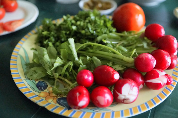 garnishes, foule recipe, lebanese recipes, lebanon