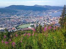 Vista dal Monte Floyen a Bergen, in Norvegia