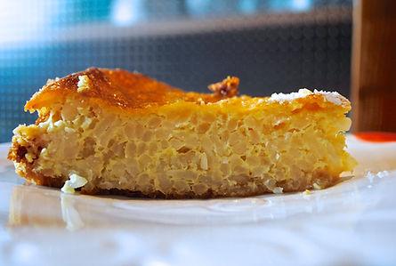 Slice of the Torta di Riso, Emiglia Romana, Italy