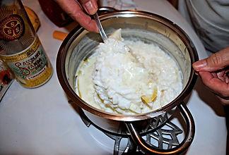 stirring in the ingredients, Anna's Italian Torta di Riso Recipe
