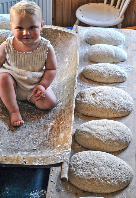 Norwegian Baby with Bread