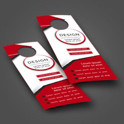 Soyez certains d'être vu par vos futurs clients grâce à nos accroche-portes personnalisés. laissez-nous créer votre design pour un impact assuré!