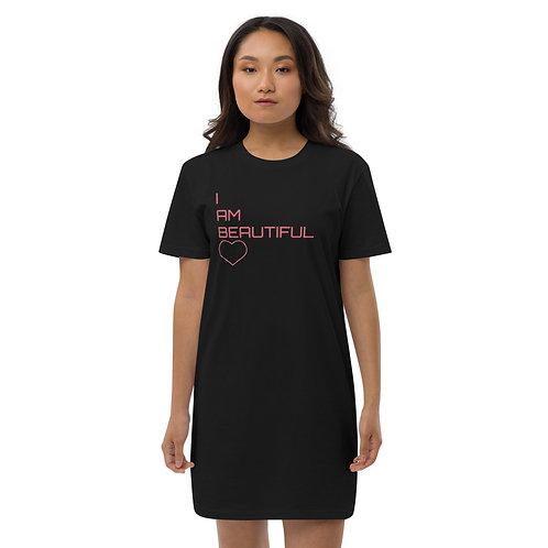 I AM BEAUTIFUL Organic cotton t-shirt dress